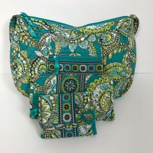 Vera Bradley Shoulder Bag Set in Peacock Pattern